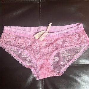 Victoria Secrets Floral Pink Lace Brief Panty